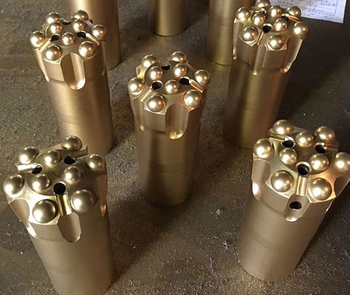 Copper Mine Drill Bits SR35-45mm R32-45mm Threaded Buttons Customer-made for Dubbo Mine in Australia